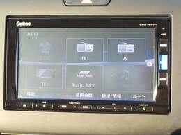 ナビ機能だけでなく、Bluetoothオーディオ、フルセグ、DVD、CD、ミュージックラックなどのオーディオ機能ついています!