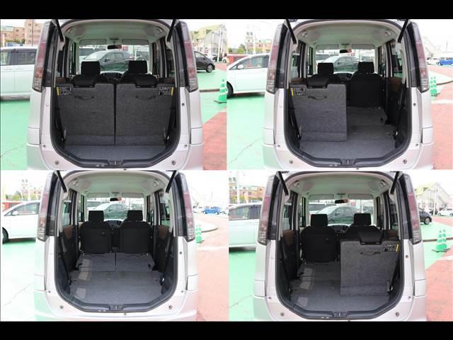 シートレイアウトによって荷室の使用用途によって変更可能となっております。