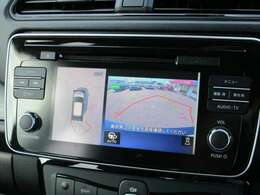 360度見えて安心安全に車庫入れしていただけるアラウンドビューモニター装備!