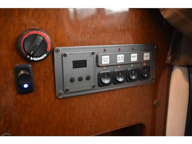 大人気のFFヒーター付きです。冬も快適にお過ごし頂けます。車体のガソリンを燃料としておりますので面倒な燃料の補給なども必要御座いません。