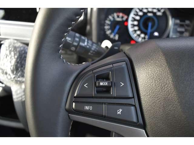 【ステアリングスイッチ左】ハンドルを握りながらオーディオ操作の設定が可能!ハンドルから手を離さなのでこれも安全性のアップに繋がっております!