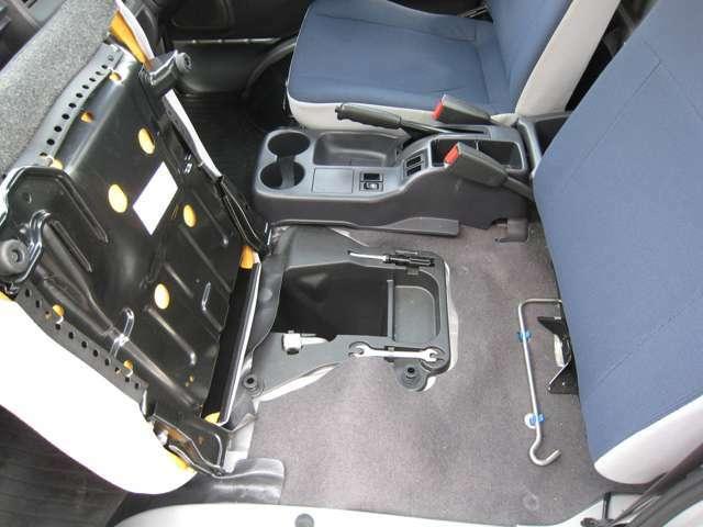 助手席下には工具が備え付けられています!
