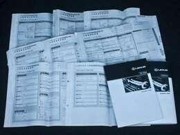 新車保証書メンテナンスノート完備!!記録簿は8回分が確認できこれまでのオーナー様の扱いの良さを感じるポイントです。整備内容も確認しご案内させて頂きますのでお気軽にお申し付け下さいませ!!