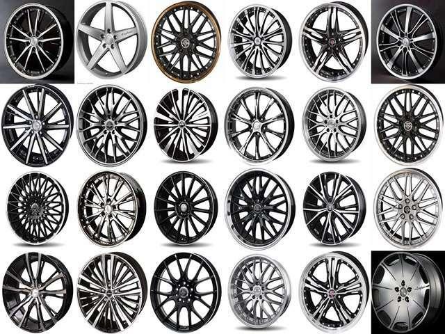 当店は全車に(一部を除く)新品アルミホイール&新品タイヤを装着して販売させて頂いております。ご来店出来ないお客様にもご自身でご選択頂ける様、ご成約の際に資料をご郵送させて頂きます。