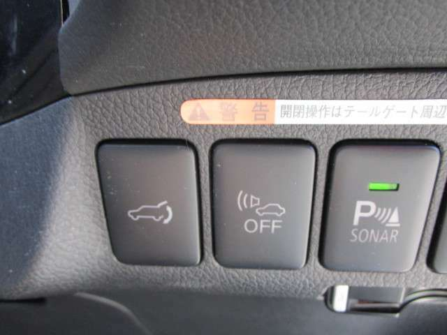 電動開閉リアゲート、車車両接近通報装置、パーキングセンサー!装備!