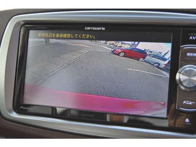 バックカメラ駐車をお助けします♪目視の確認は忘れずに!