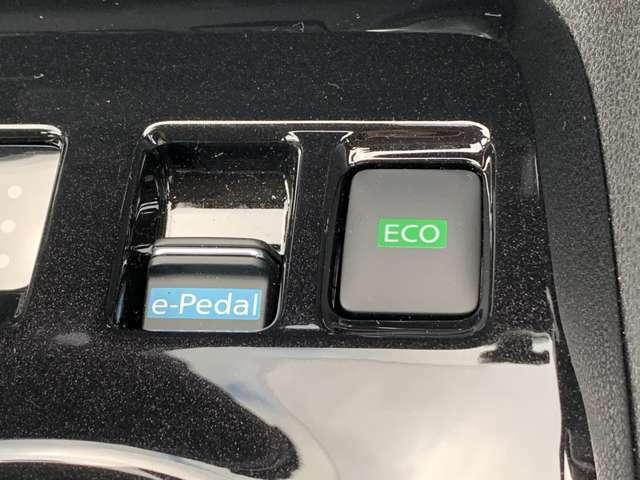 e-Pedal搭載!街中の走行で頻繁に繰り返す渋滞や信号での、アクセルペダルとブレーキペダルの踏み替え頻度が減って楽に運転することができます。