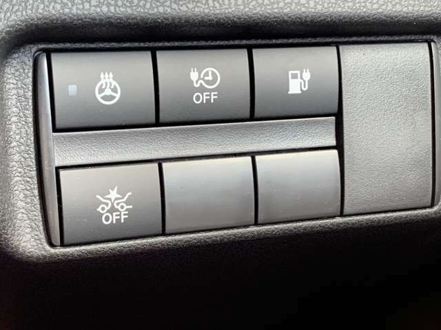 必要なスイッチ類は定位置に設置。使い勝手が更に良くなりました。