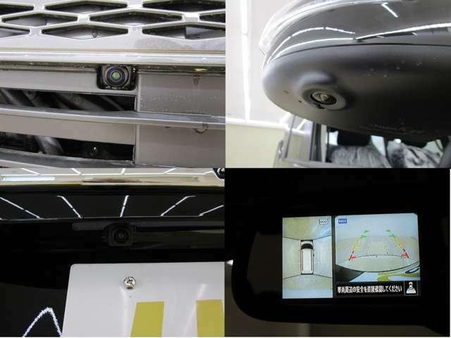 マルチアラウンドモニター付きルームミラーを装備しています。対応ナビのお取り付けでナビの大きな画面に映像の表示をすることが可能です。