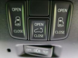 【両側電動スライドドア】力の弱いお子様や年配の方、女性の強い味方♪ドアノブやリモコンのスイッチ操作だけで開閉可能にした快適装備。半ドア防止機能も付いています。