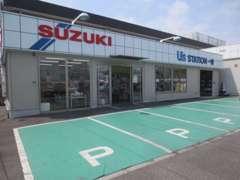 こちらが店舗になります★新車店舗の隣になります。店舗の前に駐車スペースがるのが目印です♪