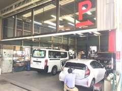 整備工場も完備しています。車検から修理・整備までお気軽にお問合せください!