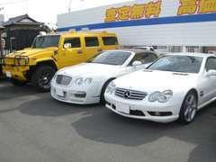 個性的な車もございます!当社の取り扱い車種は本当に幅広いです