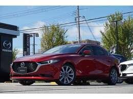 【MAZDA3 SEDAN】仕様は黒革シートとなっております!マツダi-ACTIVSENSE搭載!安心・安全にドライブや旅行、通勤にお使い頂けますお車です!是非ご覧ください!