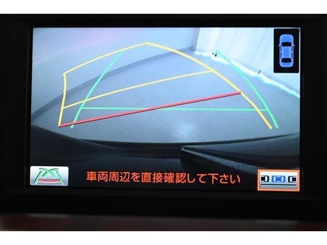 バックモニターです。 車両後方の様子を表示し、車庫入れや縦列駐車のサポートをします。