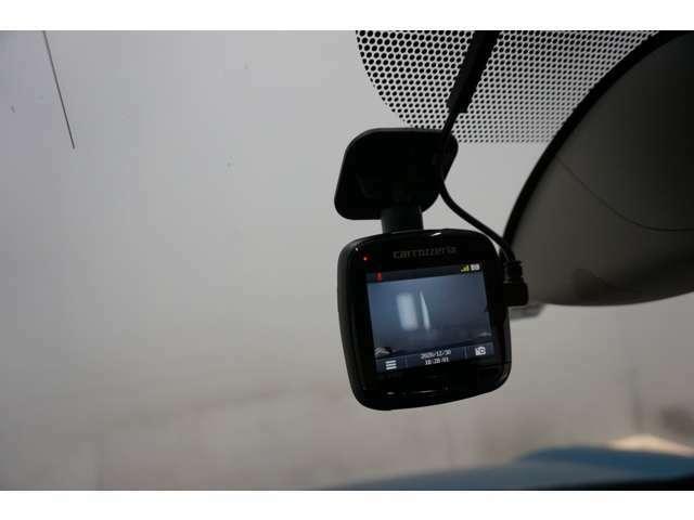 万が一の時に役立つドライブレコーダーを装備!