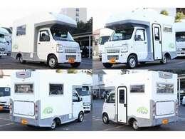 23年 キャリィトラック 4WD WAGON-LIT K380 禁煙車 長さ379幅177高さ245 乗車4名 就寝目安2+2名 外部充電 走行充電 バックカメラ
