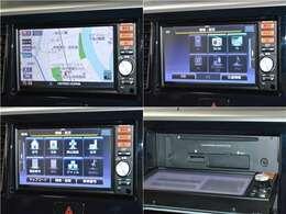 【ナビゲーション】ワイドで明るい液晶画面、簡単な操作方法、多機能ナビゲーション。知らない街でも安心です。 ≪純正ナビ  型番:MM114D-WM≫