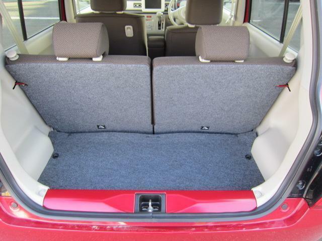 リヤシートの後ろに収納スペースがあります。毎日のお買い物もしっかりサポート!