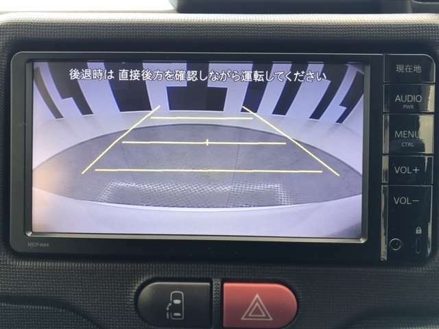 バックカメラ付きで後方の確認も安心です!スムーズな駐車・車庫入れをサポートいたします!