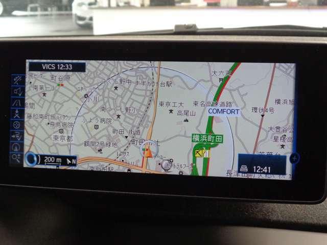 純正HDDナビ!他のBMW車と同じく「iDrive」のコントローラーで操作します!