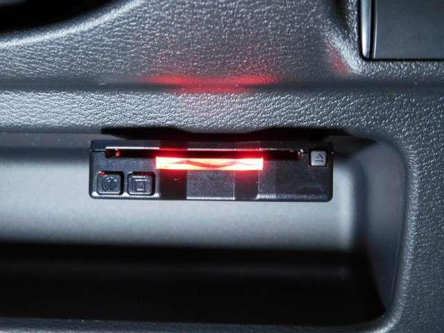 ETC付きです。高速道路を使ってのドライブも、料金所でのストレスがなく快適です。
