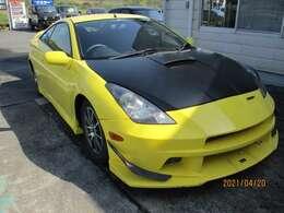 VARISのフロントバンパー、ボディの黄色がカッコいです。