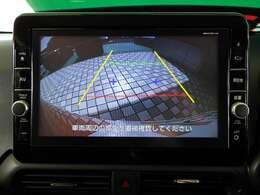 リヤビューカメラの映像が大きなディスプレイで確認出来ます。