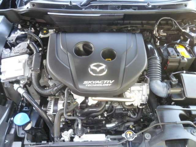 トルクフルな走行性能と低燃費を兼ね備えたスカイアクティブディーゼルエンジン搭載
