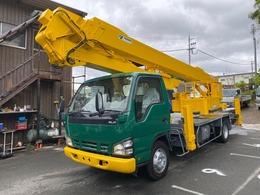 いすゞ エルフ 25.5m高所作業車 タダノ伸縮式折曲ブーム AT-255CG バケット200Kg 作業半径13.5m