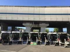 福祉車輌の無料代車常時20台完備。車検や修理も安心です。