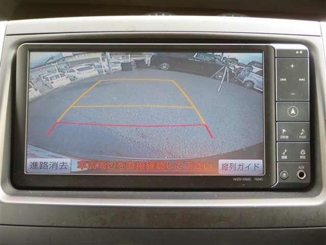 ミニバンは大きいから、車庫入れが大変・・・という、方に強い味方です!バックカメラ付きで後方確認はこれでバッチリですね。目視もお忘れなく、ご注意くださいませ。