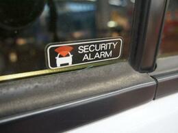セキュリティアラーム付いてます