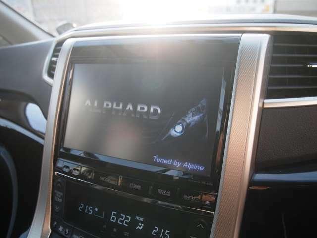 ☆アルパイン9インチナビ付きです!Bluetooth対応、地デジTV、CD、DVD再生!