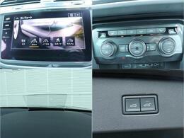 トランクの開閉は、パワーテールゲートになっております。走行モードを切り替える機能が付いております。ヘッドアップディスプレイも付いておりますので目線を動かさずに速度を見ることができます。前席、後部座席に