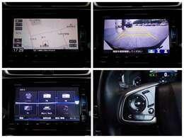 【ナビゲーション】ギャザズナビ VXU-195CVi を装備しております.フルセグTV ミュージックサーバー USB、Bluetooth接続 CD、DVD再生 AFMラジオ機能付き。