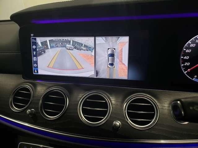 【360度カメラシステム】リバースと連動し、車両後方の映像をディスプレィに表示歪みの少ないカメラにより鮮明な画像で後退の運転操作をサポートします。