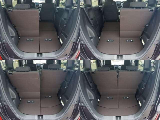 フル乗車でもしっかり荷物を収納出来るラゲッジスペースです。普段の買い物でもきちんと積める日常十分な荷室スペースを確保しています。