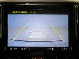 ナビ画面に後退時にはバックカメラの映像が映ります。