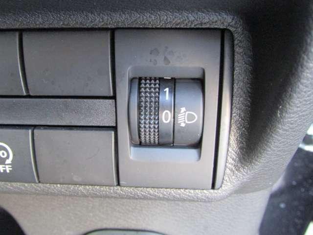 ヘッドライトレベライザー付きで、ライトの上下方向を調整可能♪♪