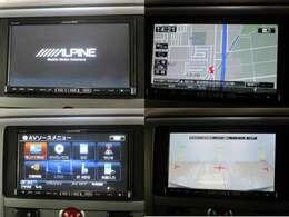 アルパイン製7インチSDナビを装備しております。型番はVIE-X007。後退時にはバックカメラの映像が映ります。Bluetoothにも対応していますので多彩な使用が可能です。