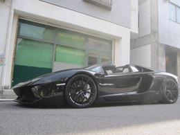 ランボルギーニ アヴェンタドールロードスター LP700-4 4WD D車 ローダウン パワクラマフラー