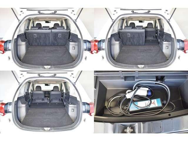 普通充電(200V)用ケーブル(コントロールボックス付)※ケーブルの長さは5メートルです/電動テールゲートとAC100V(1500W)給電コンセントはありません