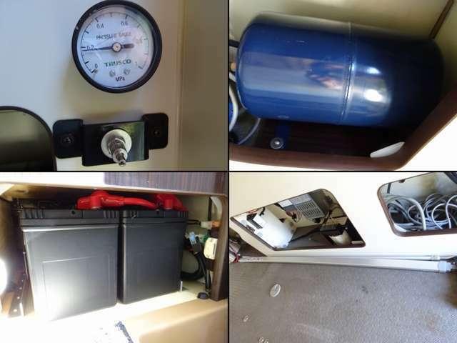 社外足回り(エア)☆  ツインサブバッテリー☆☆  走行充電 外部充電 外部電源  AC100V・500Wインバーター
