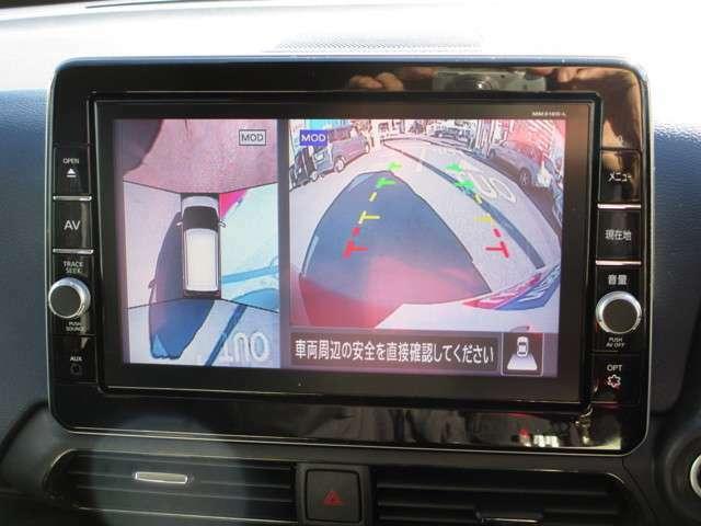 移動物検知機能付きアラウンドビューモニターにて狭い道や車庫入れも安心です♪