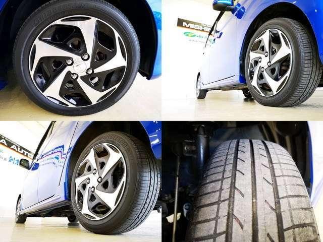 純正オプションの15アルミが素敵ですね タイヤもバリ山では無いですが まだまだ使えますよ