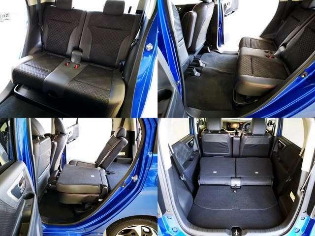 かなり広いセカンドシートスペース、お子様も大人も楽々快適に乗車できます、もちろんシートの状態も問題なし