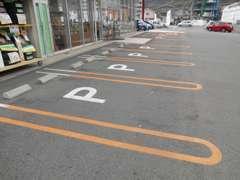 駐車場もオレンジラインで停めやすいですよ。