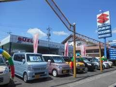 軽自動車を中心としていますが、ミニバン等の普通車も展示しております。新車ももちろん販売しております!