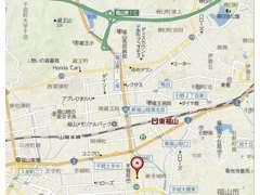 山陽自動車道、福山東ICより福山方面に15分ほどで着きます。